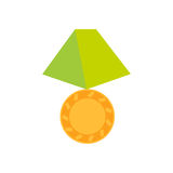 Gold medal icon. Isolated medal on white background Royalty Free Stock Photography