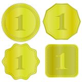 Gold Medal Icons Stock Photography