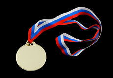 Gold medal isolated Royalty Free Stock Photos