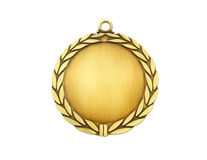 Gold medal isolated Stock Photos