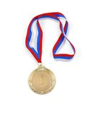 Gold medal isolated Stock Image