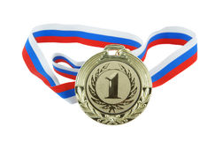 Gold medal isolated Stock Photography