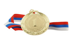 Gold medal isolated Stock Images