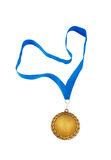 Gold medal isolated Royalty Free Stock Photo