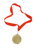 Gold medal isolated Royalty Free Stock Images