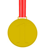 Gold Medal isolated on white. 3d illustration Royalty Free Stock Images