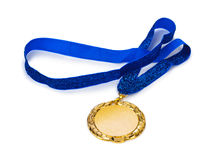 Gold medal. Isolated on white background Stock Photo