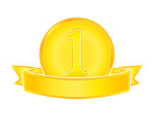 Gold medal number one. Eps10 vector illustration Stock Photography