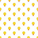 Gold medal pattern, cartoon style Stock Image