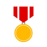 Gold medal prize icon Royalty Free Stock Photography
