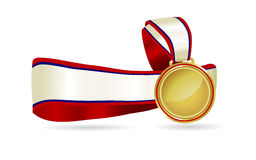 Gold Medal Ribbon Stock Photo