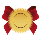 Gold medal with ribbon Royalty Free Stock Photos