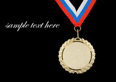 Gold medal with ribbon isolated Stock Image