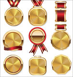 Gold medal set Stock Photography