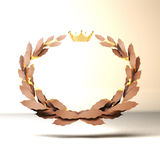 Gold medal 1 st place on a white background 3d Stock Images