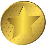 Gold medal with stars Stock Photography