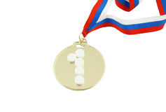 Gold medal and tablets Royalty Free Stock Photography
