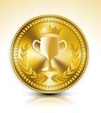 Gold medal. Vector illustration background stock illustration