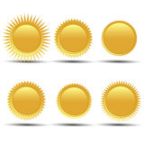 Gold medal. On a white background Stock Photography