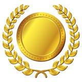 Gold medal on white background. Illustration of gold medal on white background Stock Photos