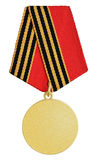 Gold medal on white Royalty Free Stock Image