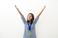 Gold Medal Winner Royalty Free Stock Images
