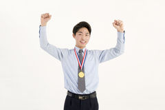 Gold medal winner Stock Image