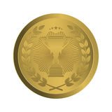 Gold Medal winner on a white background Royalty Free Stock Images
