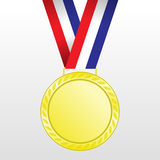 Gold medal winners at the tape. Royalty Free Stock Image
