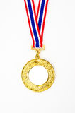 Gold medal with your own logo or text Royalty Free Stock Photo