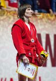 Gold medalist E. Prokopenko Stock Images