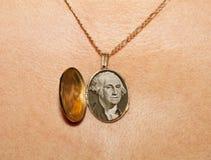 Gold medallion Royalty Free Stock Photo