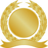 Gold medallion royalty free stock photos