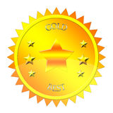 Gold medallion Stock Photography