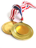 Gold Medals Stock Photo