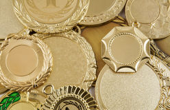 Gold medals Royalty Free Stock Photo