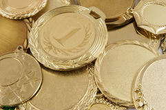 Gold medals Royalty Free Stock Photos