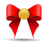 Gold medals with a bow Royalty Free Stock Photo