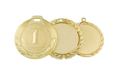 Gold medals isolated Royalty Free Stock Photo