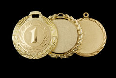 Gold medals isolated Royalty Free Stock Photography