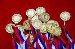 Gold medals stock photography