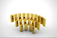 Gold meeting Stock Image