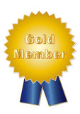 Gold Member. Illustration of ribbons ideal for guaranty and quality concepts Royalty Free Stock Images
