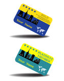 Gold member cards Royalty Free Stock Image