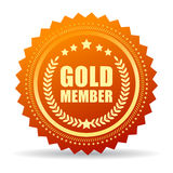 Gold member seal icon Royalty Free Stock Photography