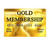 Gold membership card. On white background stock illustration