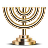 Gold menorah Royalty Free Stock Images