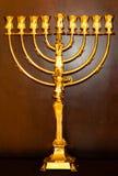 Gold menorah. Hanukkah. Gold menorah for Hanukkah Royalty Free Stock Photo