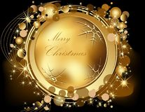 Gold Merry Christmas  background Royalty Free Stock Image