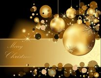 Gold Merry Christmas  background Royalty Free Stock Photography